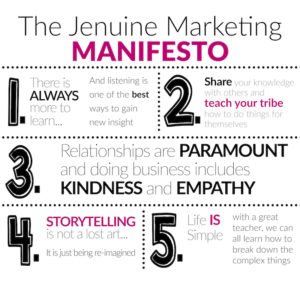 Jenuine Marketing Manifesto