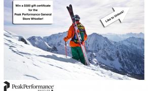 Facebook Contest Design – Peak Performance Whistler