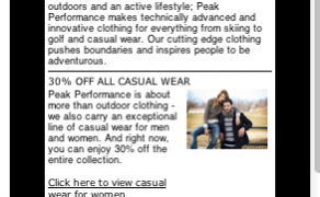 E-Newsletter Template Design – Peak Performance Whistler
