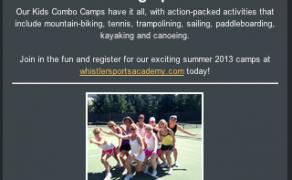E-Newsletter Template Design – Whistler Sports Academy